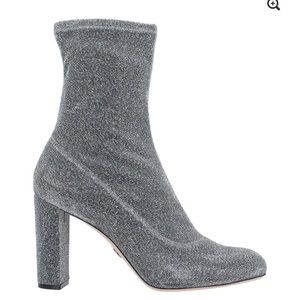 NEW ZARA Glitter Boot Heels 8